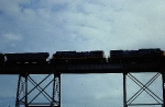 CSX 7718 and 7734 on Huey Long Bridge